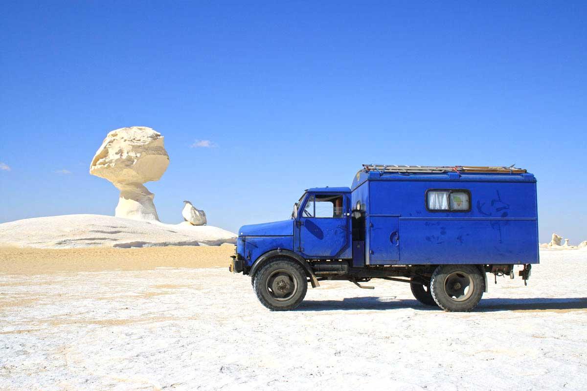 Mit dem Hanomag in der weißen Wüste, Ägypten