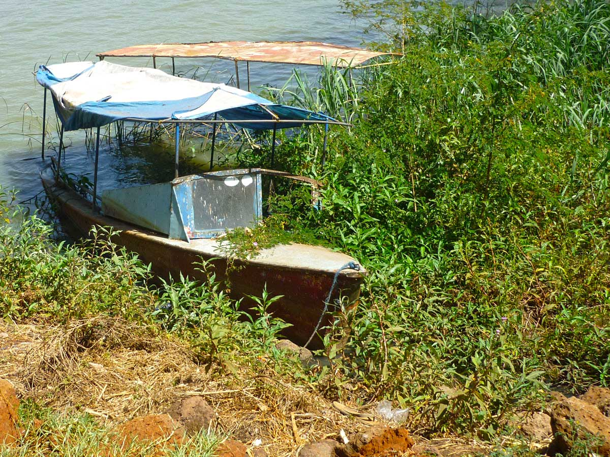 Boot auf dem Lake Tana in Äthiopien