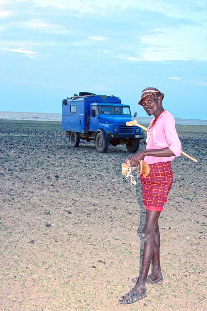 Kenian Dandy am Turkanasee