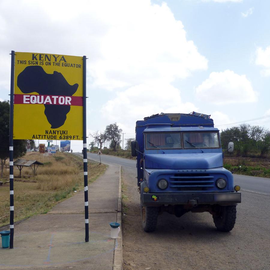 Äquator Überquerung in Kenia