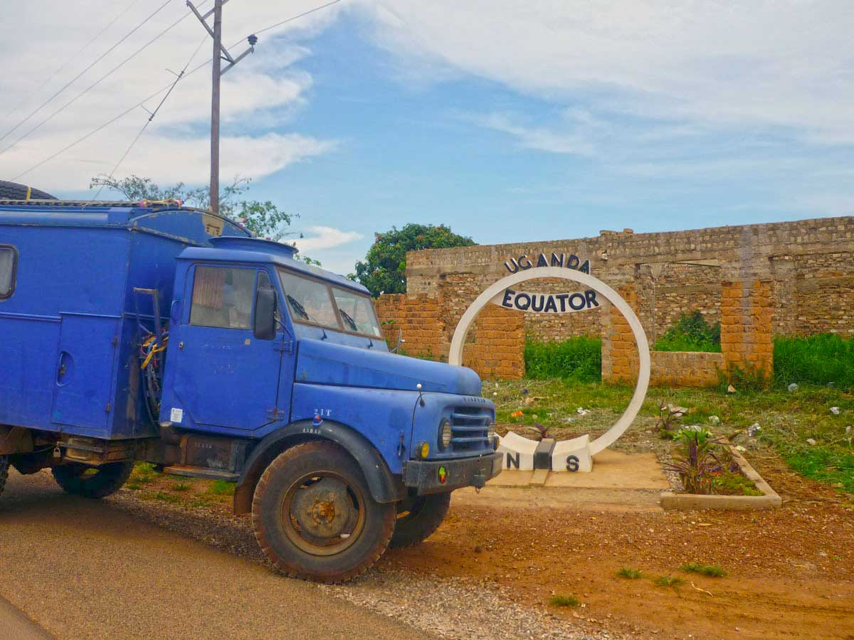 Äquatorüberquerung in Uganda