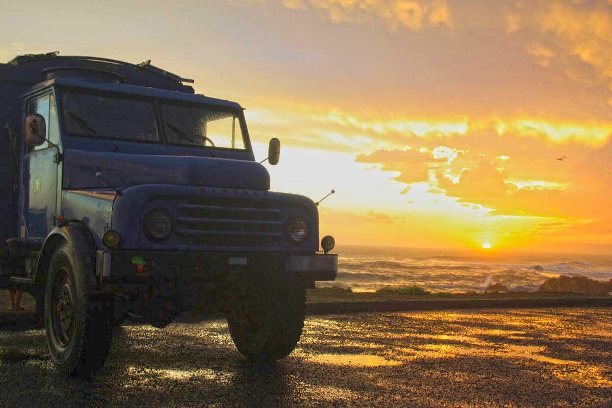 Sonnenuntergang am Atlantik auf der Garden Route