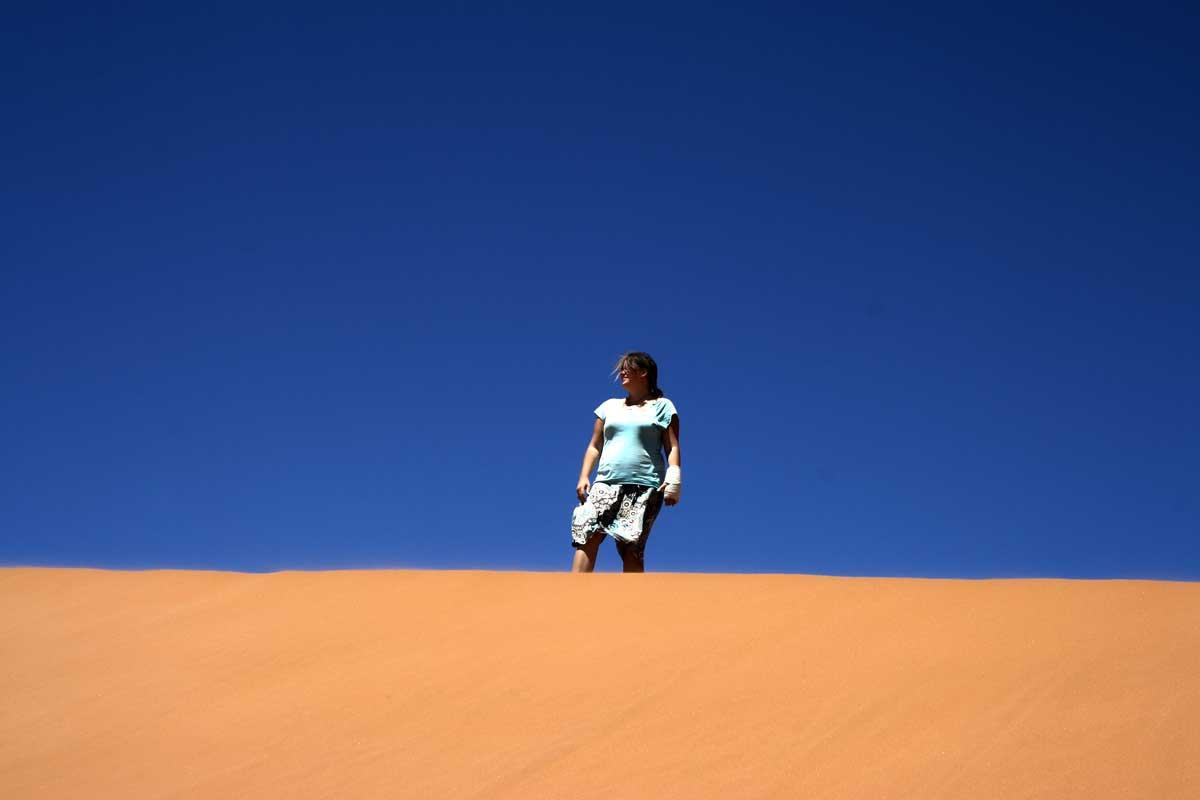 Ein Traum ist wahr geworden: wir haben die Dünen von Sossusvlei bestiegen. Der Wahnsinn, die Landschaft.