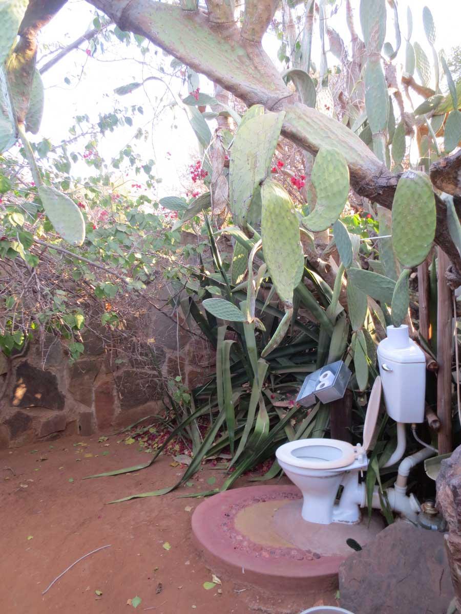 ausgefallene Toilette, Botswana